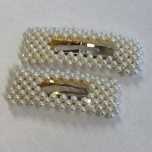 Stas spenne med perler gull liten