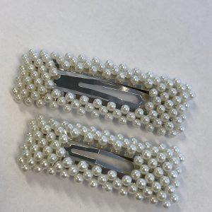 Stas spenne med perler sølv liten