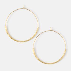 Orelia - Gold Seedbead Hoops