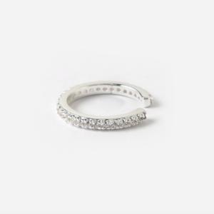 Orelia - Single Pave Cuff - Silver
