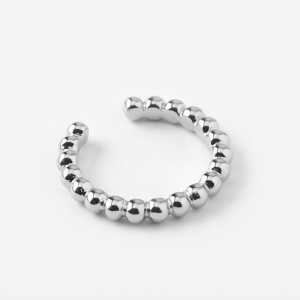 Orelia - Beaded Metal Cuff - Silver
