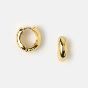 Orelia - Mini Domed Clean Huggie Hoops Gold