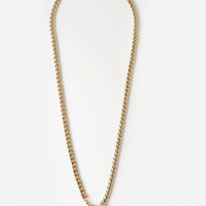 Orelia - Chunky Rope Chain T-Bar Necklace