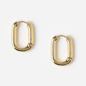 Orelia - Chunky Oval Hoop Earrings
