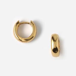 Orelia - Mini Domed Huggie Hoop Gold